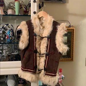 Joie - Suede / Fur Embroidered Vest